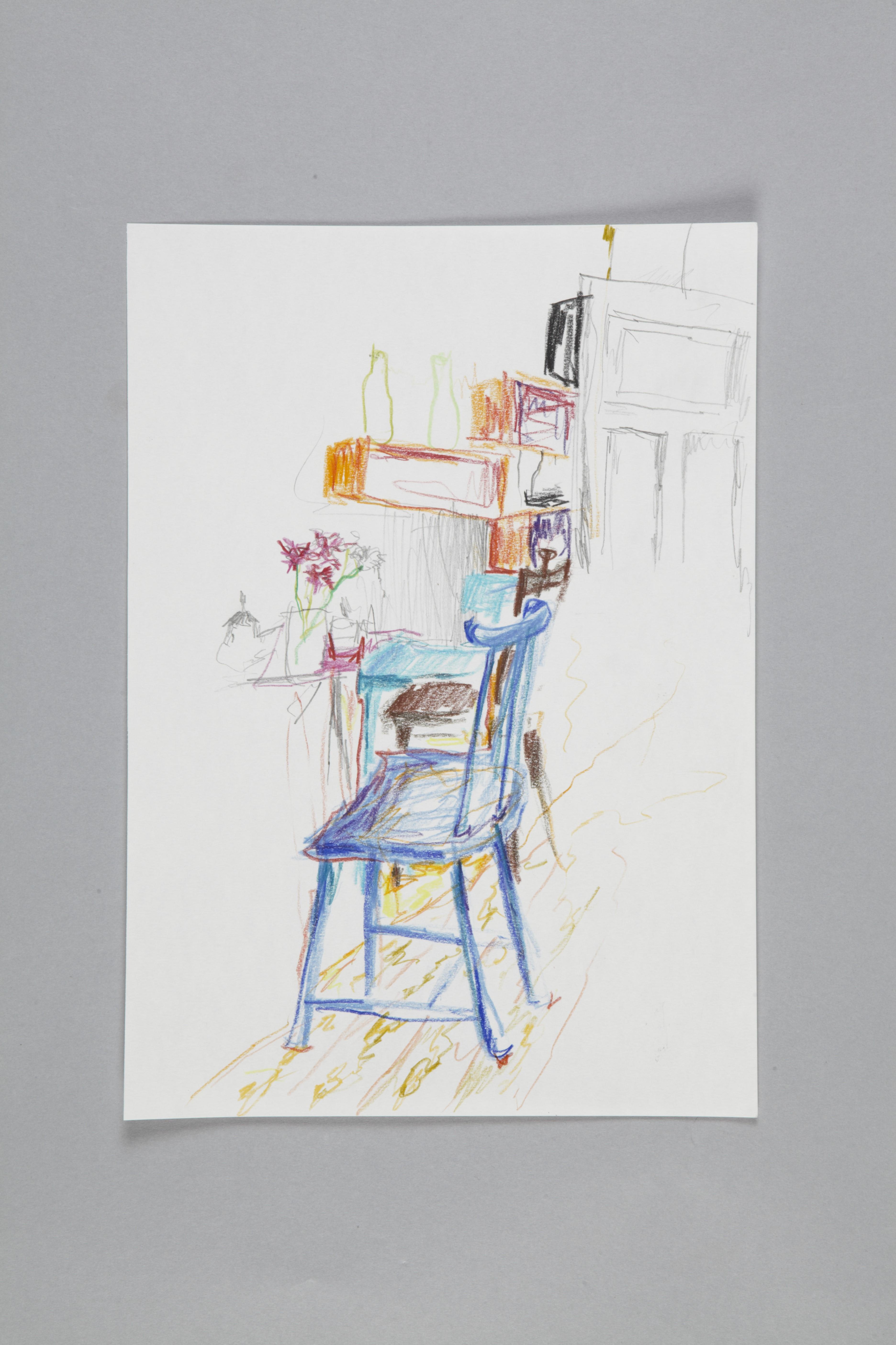 Color pencils and fineliner on paper | Café II | 30×20 | 2017_Jule Sonnentag
